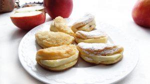 Serowe ciasteczka z jabłkami