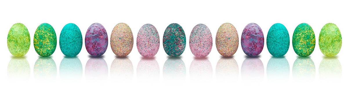 grafika kolorowych jajek