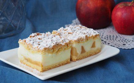 zdjęcie ciasta natalerzu wtle jabłka