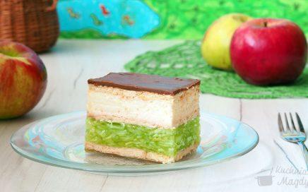 zdjęcie ciasta onazwie zielone jabłuszko