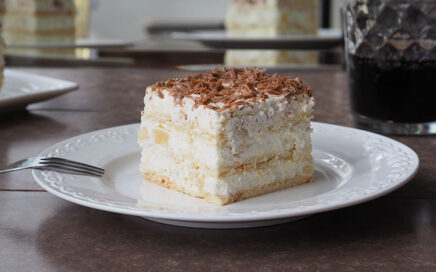 zdjęcie ciasta ananasowa delicja nazimno