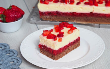 Ciasto budyniowa truskawka