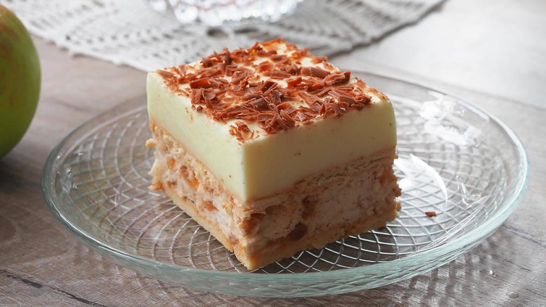 Ciasto karmelowe jabłuszko zcytrynką